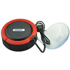Waterproof Bluetooth Mini Speaker Mic Suction Cup Wall Bath Shower Car Wireless