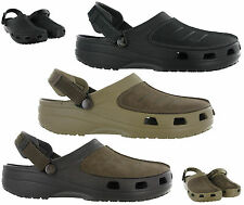 Crocs Yukon Mesa Clog Walking Comfort Leather Uppers Mens Sandals Shoes UK 7-12