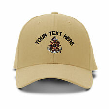 Custom Text Captain Wheel Embroidery Embroidered Adjustable Hat Baseball Cap