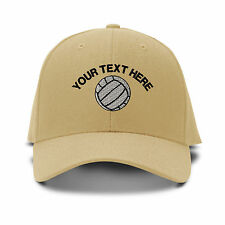 Your Text Here Custom Volleyball Embroidered Adjustable Hat Baseball Cap