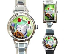 Italian Charm Metal Watch Round Square Frog 6 art painting L.Dumas
