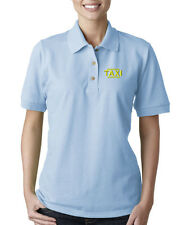 TAXI DRIVER CAB Embroidery Embroidered Lady Woman Polo Shirt
