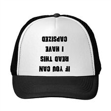 If You Can Read This I Have Capsized Funny Adjustable Trucker Hat Cap