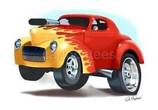 Willys Hot Rod Muscle Car Tshirt #5004 vintage auto art