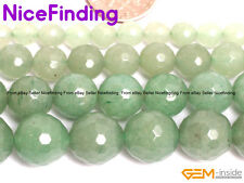 Natural Faceted Green Aventurine Stone Round Beads For Jewelry Making Gemstone