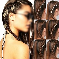 5 pcs Beautiful Hair Rings With Shell Star Leaf charms / Accessories Gold Silver