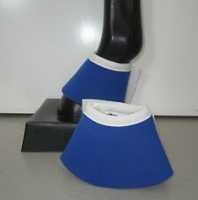 Horse Bell or Overreach Boots Royal blue & White  AUSTRALIAN MADE Protection