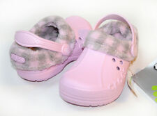 $30 Crocs Kids Plaid Blitzen Bubblegum Pink C6/7 C8/9 C10/11 C12/13 J1 J2 J3