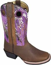 NEW! Smoky Mountain Boots - Child's - Western Cowboy - Leather Camo Square Toe