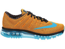 NEW MENS NIKE AIR MAX 2016 RUNNING SHOES TRAINERS VIVID ORANGE / DARK TURQUOISE