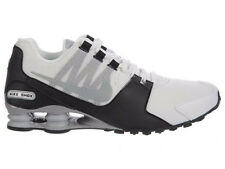 NEW MENS NIKE SHOX AVENUE RUNNING SHOES TRAINERS WHITE / WOLF GREY / BLACK / WOL
