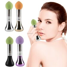 1PC New Pro Soft Makeup Foundation Powder Puff Sponge Brush Facial Cosmetic B20E