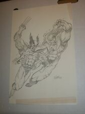 WOLVERINE VS SABRETOOTH Jose 1993 Sketch Original Comic Art Page