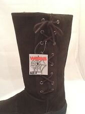 LADIES UGG BOOTS LACE UP RUBBER SOLES GENUINE SUEDE WITH WOOL BLEND LINING