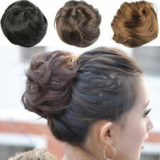 Girl Stylish Pony Tail Clip in/on Hair Bun Hairpiece Extension Hair Scrunchie