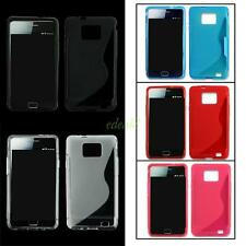 SILICONE GEL S CURVE BACK SKIN COVER CASE SHELL FOR SAMSUNG GALAXY SII S2 I9100