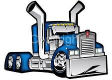 Cartoon Kenworth Big Rig Truck Hauler Tshirt 2018 cab automotive art