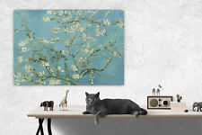 Vincent Van Gogh Almond Blossom Tree Picture Blue Wall Canvas Print A1/A2/A3