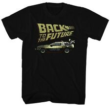 Back To The Future Movie Delorean Licensed Adult Shirt S-XXL