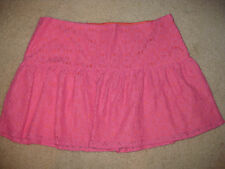 NEW Lilly Pulitzer EARNA Skirt Hotty Pink Petal Pusher Lace Hot $98 Mini Eyelet