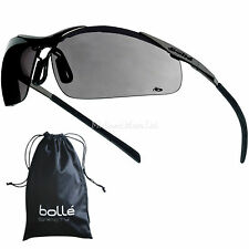 Bolle Contour Metal Smoked Lens Safety Glasses / Sunglasses CONTMPSF