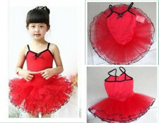 Kid Child Girls Party Ballet Dance Costume Tutu Leotard Skirt Dress 5-8Y 4Colour
