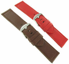 26mm Red or Brown deBeer Remborde Watch Band