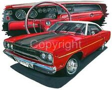 1970 Plymouth Road Runner Muscle Car Tshirt #4779 automotive art
