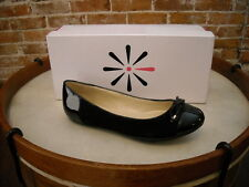 Isaac Mizrahi Fancy Black Suede Captoe Ballet Flats NEW
