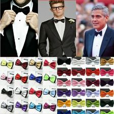 Baby Boy Kid Infant Solid Color Wedding Tuxedo Bowties Bow Tie Neckwear