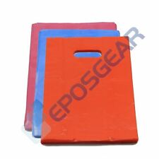 Small Coloured Punch Out Handle Gift Fashion Party Market Plastic Carrier Bags