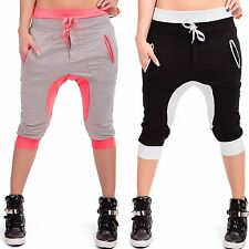 Ladies short 7/8 Bermuda Capri Pants Sports Jogging Trousers Track