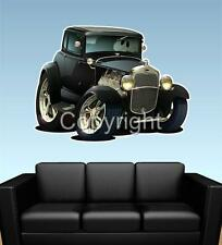 1930 Model A Coupe Ford WALL GRAPHIC DECAL MAN CAVE MURAL 6116 AUTO ART PRINT