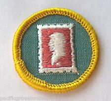 Girl Scout 1963-80 Cadette STAMP COLLECTOR BADGE, Choose Year USPS Postage Patch
