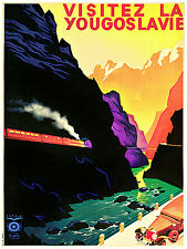 1081 Yugoslavia Travel wall Art Decor POSTER.Graphics to decorate home office.