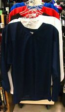 New Powertek ice hockey goalie goal practice jersey long sleeve navy senior