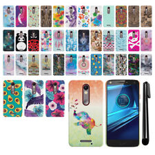 For Motorola Droid Turbo 2 Kinzie XT1585 PATTERN HARD Back Case Phone Cover +Pen