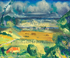Clouds and Meadow ~ George Bellows ~ Cross Stitch Pattern