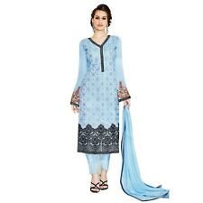 Designer Georgette Embroidered Salwar Kameez Suit Indian Dress-Sim-Royale-739