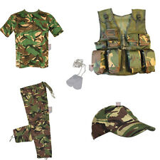 XMAS Deal Kids - DELUXE B - Army Camo Fancy Dress Children's Soldier Outfit