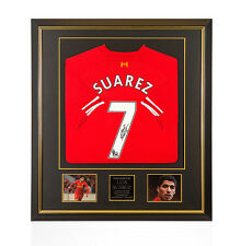 Premium Framed Luis Suarez Signed Liverpool Shirt 2013/2014 - Number 7