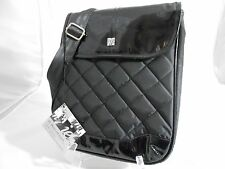 """IE 12"""" Messenger Sleeve Quilted Collection - Across Body or Shoulder Bag Nylon"""