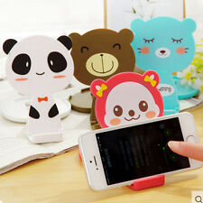 Cute Cartoon Phone Support Lazy Folding Makeup Mirror Creative Mobile Phone Seat
