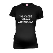 The Force Is Strong With This One New Mom Funny Maternity T-Shirt Tee Shirt Top