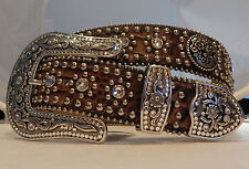 Tony Lama New Rhinestone Bling Leather Belt   Sizes 40, 42  C50725