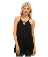 New Free People Womens Black Wicked Spell Top Cami Camisoles Tunic Size XS-XL