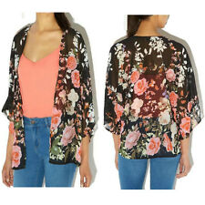 Women Ladies Vintage Retro Floral Loose Shawl Kimono Boho Chiffon Coat Jacket