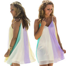 New Boho Womens V Neck Maxi Cocktail Evening Party Beach Dress Ball Gown