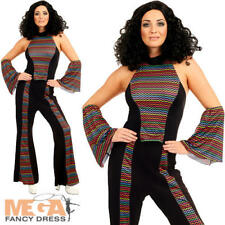 Disco Diva Ladies Fancy Dress Groovy Funky 70s 1970s Womens Adult Costume Outfit