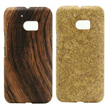 For HTC One M10 Wood Texture Design Hard case cover